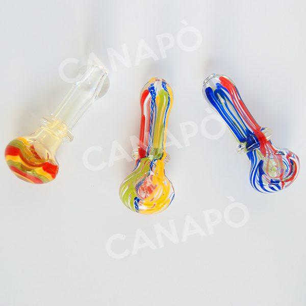 pipa in vetro colorato
