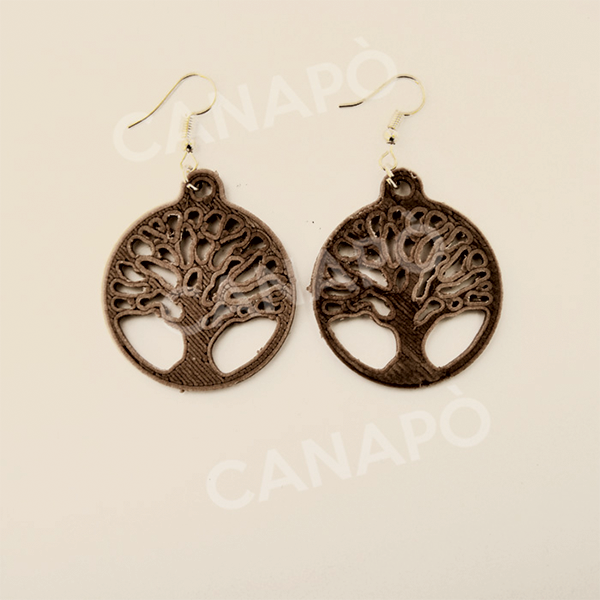 albero della vita orecchini in canapa