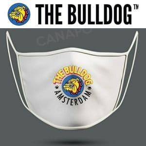mascherina bianca the bulldog