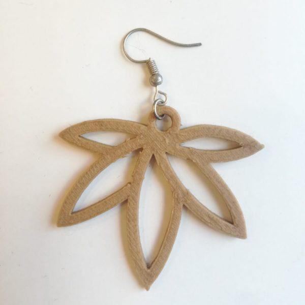 orecchini in canapa artigianali pendenti