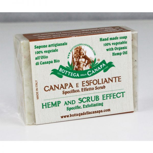 sapone esfoliante scrub canapa