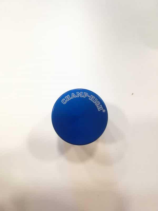 mini grinder in metallo blu