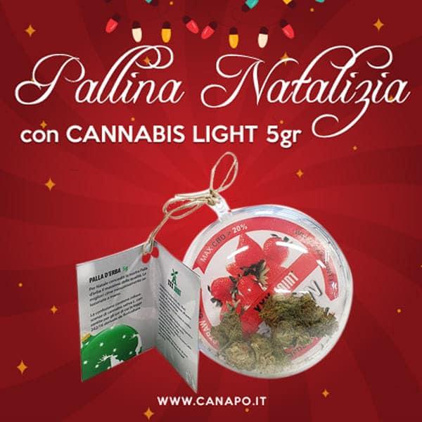 pallina natalizia cannabis light cbd