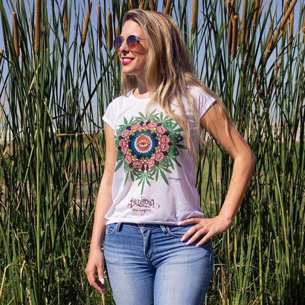 t-shirt mandala kannabia