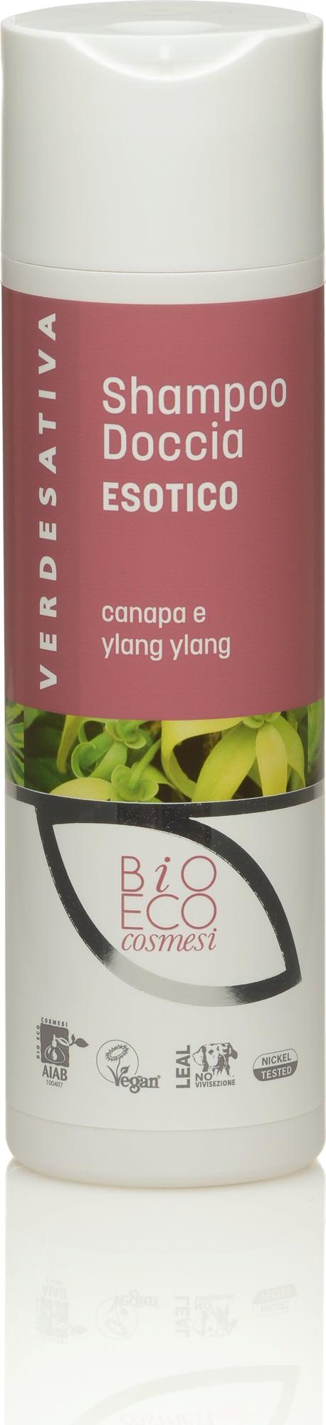 verdesativa shampoo doccia canapa ylang ylang