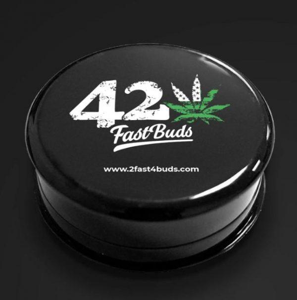 grinder in plastica nero 2 parti 420 fast buds