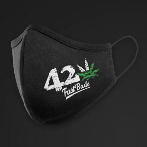 mascherina nera in tessuto 420 fast buds