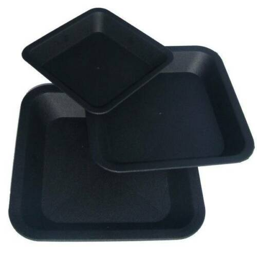 sottovaso quadrato nero 25x25