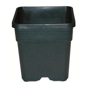 vaso quadrato nero 14 l