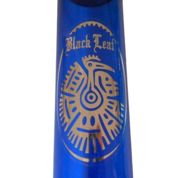 bong black leaf acrilico blu
