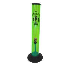 bong in acrilico black leaf verde grande 26 cm