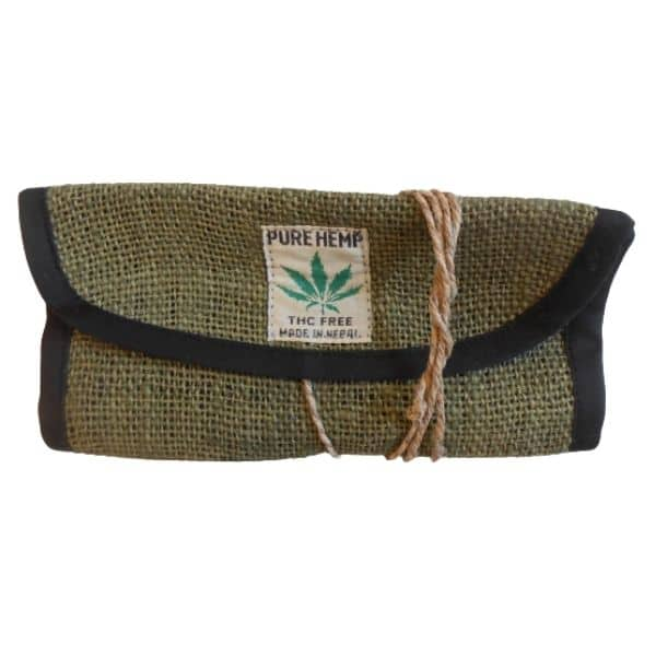 portatabacco in canapa pure hemp verde