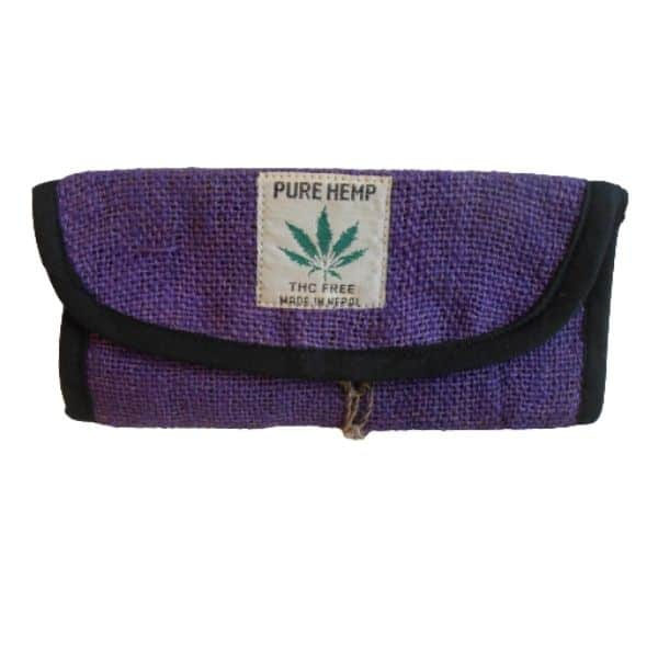 portatabacco in canapa pure hemp viola