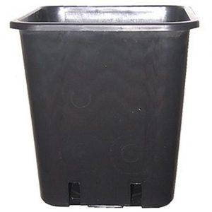 vaso quadrato nero plastica 11 litri