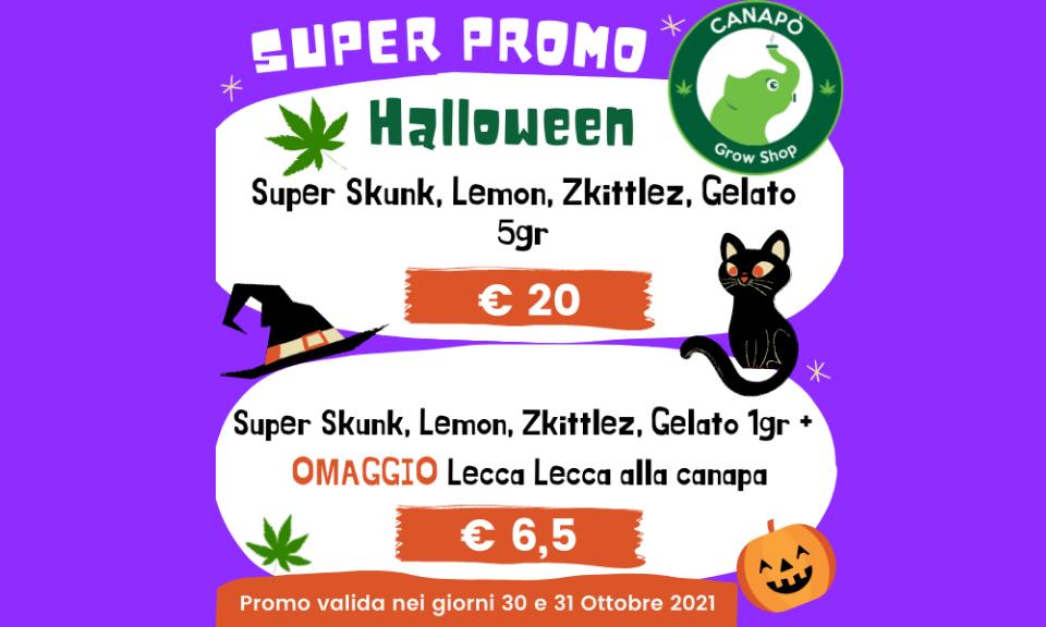 super promo halloween cannabis light cbd offerte